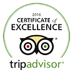 Trip Advisor Certificate of Excellence 2016
